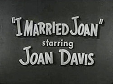 I Married Joan Title Card